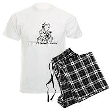 muddle headed wombat on bike pajamas