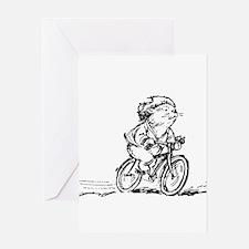 muddle headed wombat on bike Greeting Card