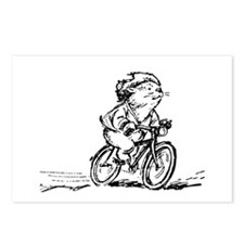 muddle headed wombat on bike Postcards (Package of