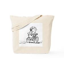 muddle headed wombat on bike Tote Bag