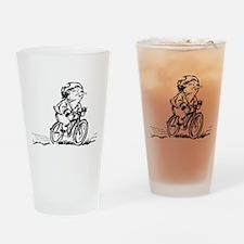 muddle headed wombat on bike Drinking Glass