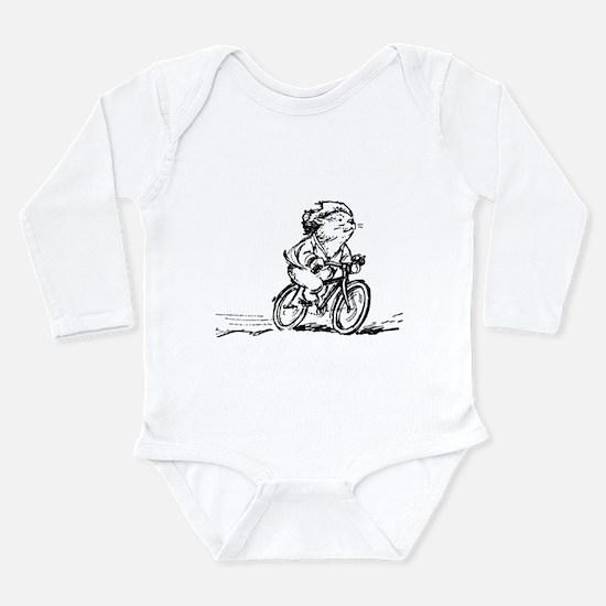 muddle headed wombat on bike Long Sleeve Infant Bo