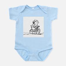 muddle headed wombat on bike Infant Bodysuit