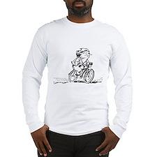 muddle headed wombat on bike Long Sleeve T-Shirt