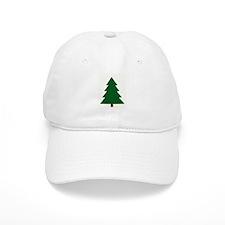 Woodblock Christmas Tree Baseball Cap