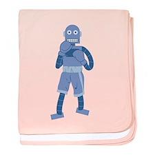 Boxing Robot baby blanket