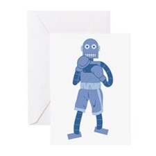 Boxing Robot Greeting Cards (Pk of 10)