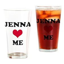 Jenna Loves Me Drinking Glass