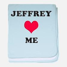 Jeffrey Loves Me baby blanket