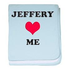 Jeffery Loves Me baby blanket