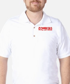 ZOMBIES ALL FUN BRAINS T-Shirt