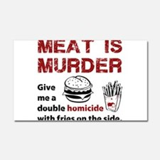 Meat is murder Car Magnet 20 x 12