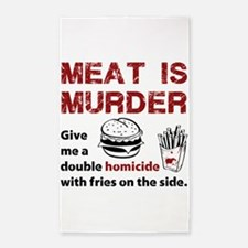Meat is murder 3'x5' Area Rug