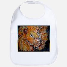 Lion! Wildlife art! Bib