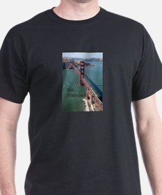 SF Aerial Golden Gate Bridge T-Shirt