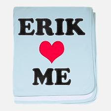 Erik Loves Me baby blanket