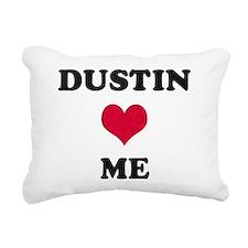 Dustin Loves Me Rectangular Canvas Pillow