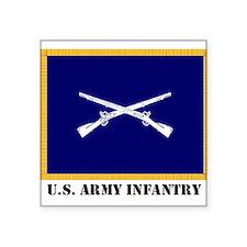 Infantry Flag Rectangle Sticker