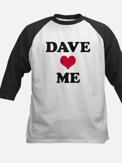 Dave Loves Me Kids Baseball Jersey