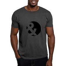Ampersand Circle Black T-Shirt
