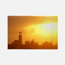 Lighthouse Sunset Rectangle Magnet