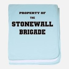 Property of Stonewall Brigade baby blanket