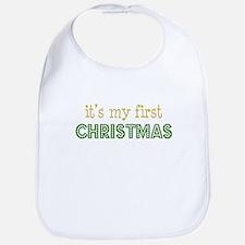It's My First Christmas Bib