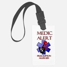 Medic Alert Rx Allergies Luggage Tag