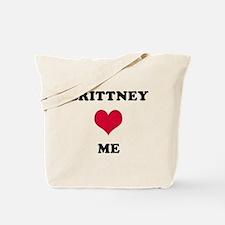 Brittney Loves Me Tote Bag