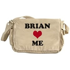 Brian Loves Me Messenger Bag
