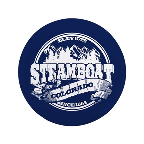 """Steamboat Old Circle 3.5"""" Button"""