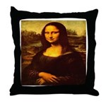 The Mona Lisa da Vinci 1503 Throw Pillow