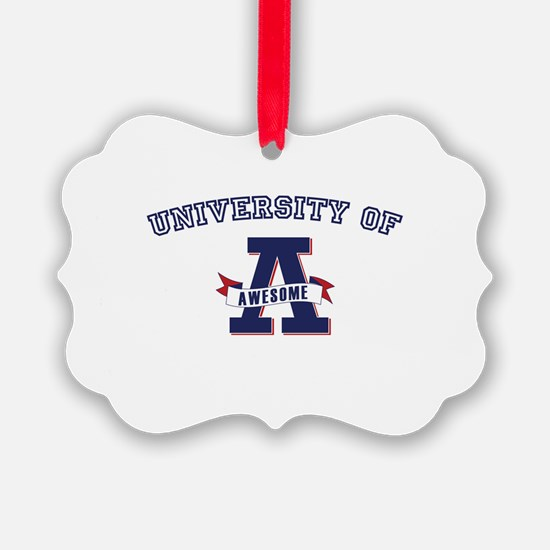 University of Awesome Ornament