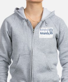 Cute Cardiac unit Zip Hoodie