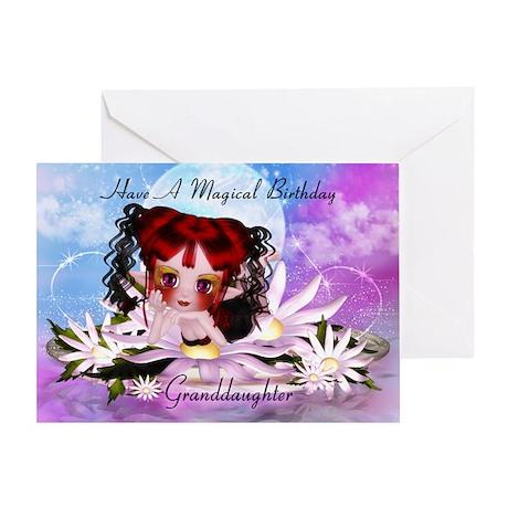 Granddaughter Fairy Birthday Greeting Card