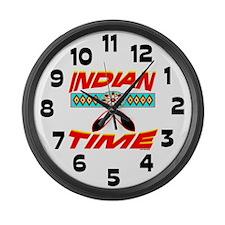 NATIVE AMERICAN CLOCK Large Wall Clock