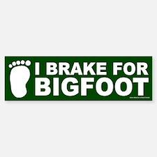 I Brake For Bigfoot Green (sticker) Bumper Bumper Bumper Sticker