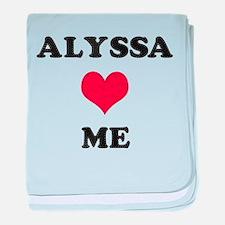 Alyssa Loves Me baby blanket