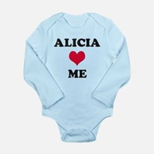 Alicia Loves Me Long Sleeve Infant Bodysuit