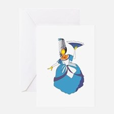 The Blue Victorian Greeting Card