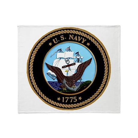 US Navy Logo Throw Blanket