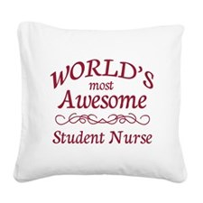 Awesome Student Nurse Square Canvas Pillow