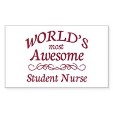 Awesome Student Nurse Decal