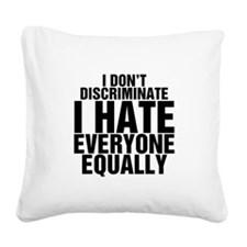 hate.png Square Canvas Pillow