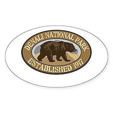 Denali Brown Bear Badge Decal