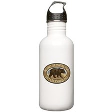 Denali Brown Bear Badge Water Bottle