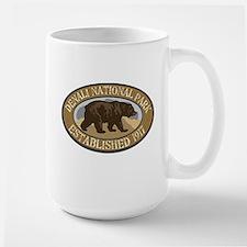 Denali Brown Bear Badge Large Mug