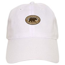 Denali Brown Bear Badge Baseball Cap