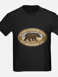 Denali Brown Bear Badge T
