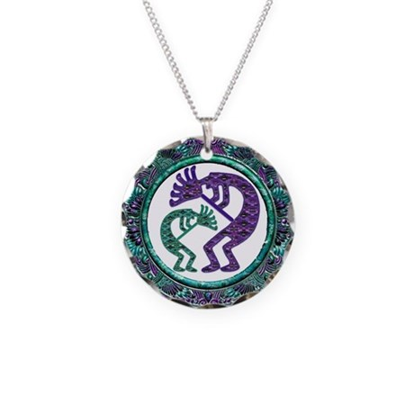 Best Seller Kokopelli Necklace Circle Charm